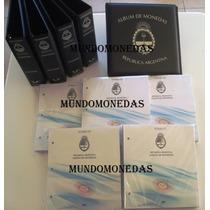 Albumes De Monedas Argentinas Vk, 5 Tomos, 1882 A 2012