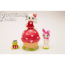 Kitty Y Sus Amigos En Porcelana Fria - Adorno Para Torta