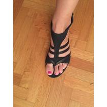 Sandalias Negras Importadas Modelo Muy Original Nro 38 New