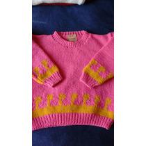 Sweater Tejido A Mano Lana Alpaca Talle 4