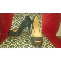 Zapatos De Fiesta Paruolo - Negros - N°36 - Nuevos En Caja