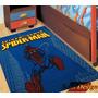 Carpeta Alfombra Spiderman Hombre Araña 80 X 120cm Fundasoul