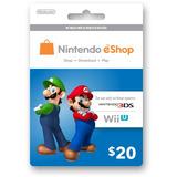 Nintendo Eshop 20 Usa Tarjeta 3ds Wii U Platinum Microcentro