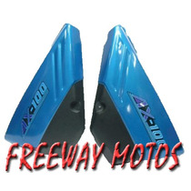 Juego Cachas Suzuki Ax 100 Color Celestes En Freeway Motos !