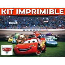 Kit Imprimible Cars Cumpleaños Tarjetas Invitaciones