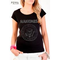 Remera Premium Powa 100% Algodón Con Estampa Ramones