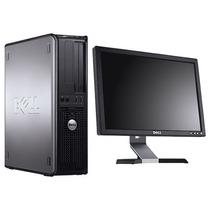 Pc Completa Monitor 17 Dell Core 2 Duo 160gb 4gb Dvd Win 7
