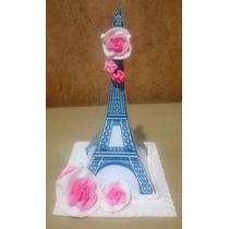 Adorno Para Tortas Centros De Mesa Paris Torre Eiffel