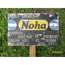 Antiguo Cartel De Ordeñadoras Noha (no Enlozado) Tambo Campo