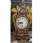 Antiguo Reloj Estilo Frances Madera Y Bronce Coleccionable B