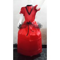 Disfraz Completo Dama Antigua Negrita Vendedor Campesina
