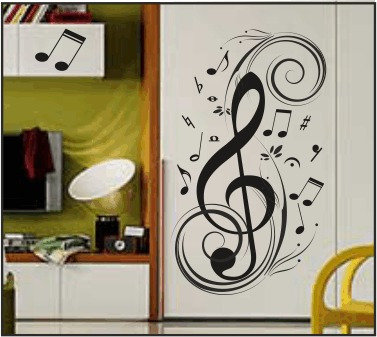 Mural vinilo decorativo plotter pared decoracion musica for Vinilos decorativos instrumentos musicales