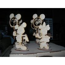 Portaretratos Mickey Minie Mouse En Fibrofacil 20cm