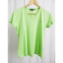 Remera Basica En Verde De Ralph Lauren