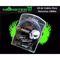 Kit De Cables Monster K08-x Para Potencias 1800watts Oferta!