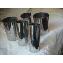 Set 5 Moldes Para Velas Ac. Inox De 4,5,6,7y8cm X10cm Altura