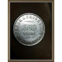 Moneda 1907 Brazil 500 Reis Plata Ref P15-2