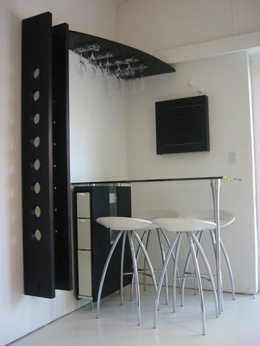 Mesa bar desayunador vinoteca muebles modernos lucero for Muebles para vinotecas
