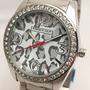 Reloj Knock Out 2367 Plateado Combinado Mujer Dama Ko Strass