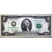 Fajo 25 Billetes 2 Dolares Usa 2003 Valor Catalogo Us$1250