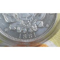 Moneda Argentina 1 Peso Patacón 1881