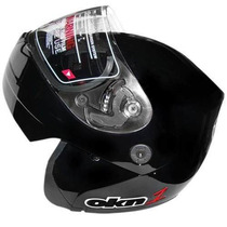 Casco Rebatible Okinoi Negro Clasico 2013 En Freeway Motos!