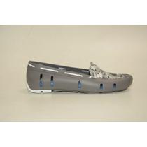 Zapatos Chatas Zapatillas Mocasin De Goma Mujer