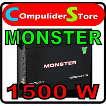 Potencia Monster M 700.1 1500w Monoblock Ideal Para Woofer