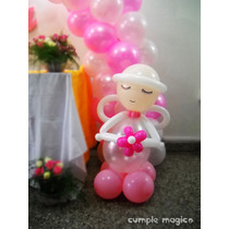 Decoración En Globos - Angelitos Bautismo Comunion