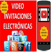 Invitacion Digital Animada Kit Cumpleaños Personajes Full