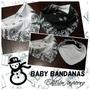 Babero Bandana Rocker Polar Pañuelos Abrigo Para Bebes