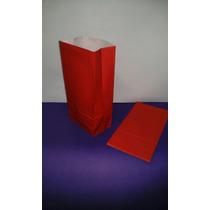 Bolsa De Papel Roja Lisas Tipo Sobre Para Souvenier ( X 10 )