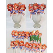 Princesa Sofia Figuras Toppers Pinchos Muffins Cupcakes