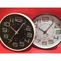 Reloj De Pared Circular Moderno, Excelente Calidad Y Diseño
