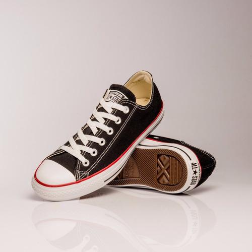 zapatillas converse negras y rojas
