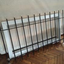 Ventana Con Reja De Aluminio 1,10 X50