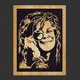 Cuadro Janis Joplin, Rolling, Bob Marley, Nirvana En Madera