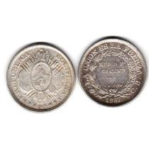 Monedas Bolivia Plata 50 Centavos Año 1897 O 1899 Excelentes