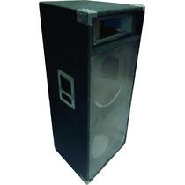 Caja Vacía Trapezoidal Para 2 Parlantes De 15 Columna Alfomb