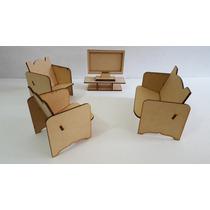 Muebles Casita Muñecas Barbie Fibrofacil Mdf Corte Laser