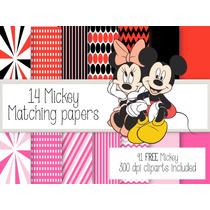 Kit Imprimible Mickey Y Sus Amigos 90 Clipart 14 Fondos.