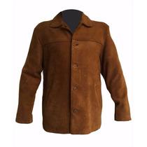 Campera Camisaco Cuero Carpincho Hombre