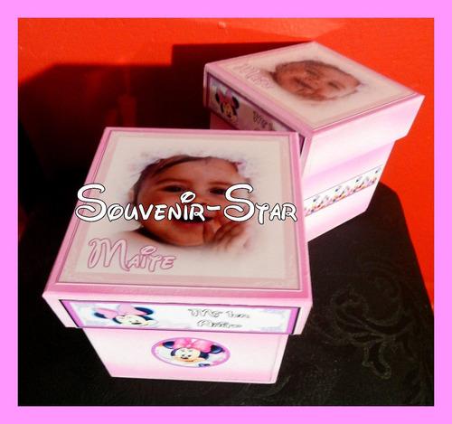 Souvenir 10 cajas con la foto personalizadas 10x10x10 cm for Cajas personalizadas con fotos