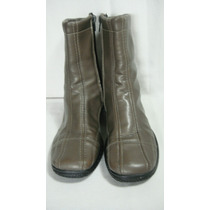 Botas Cortas 37 Eco-cuero Color Marron Claro Vison
