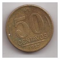 Brasil Moneda 50 Centavos Año 1953 !!