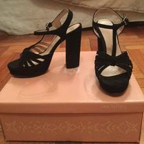 Zapatos New Factory T 37 Gamuza Negros
