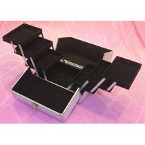 Maletin Aluminio Profesional Porta Maquillajes 6 Bandejas