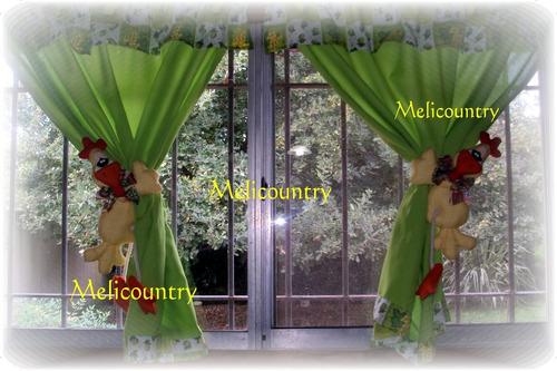 Mu ecos country sujeta cortinas gallo para la cocina - Ver cortinas para cocina ...