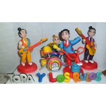 Topa Y Los Rulos/casa D/mickey Mouse+4personajesadorno/torta