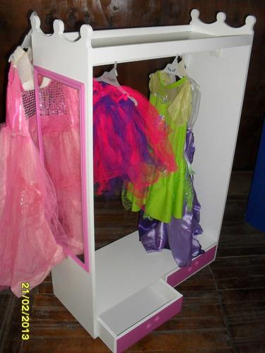 Perchero infantil repisa espejo vinilo disfraces vestidos - Perchero infantil pared ...